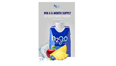 H2go Energy Water Giveaway