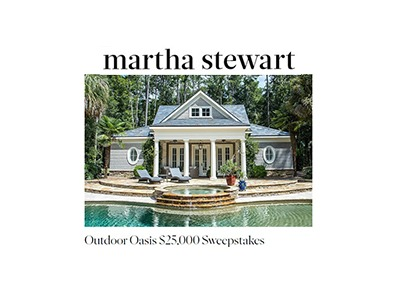 Martha Stewart Outdoor Oasis Sweepstakes