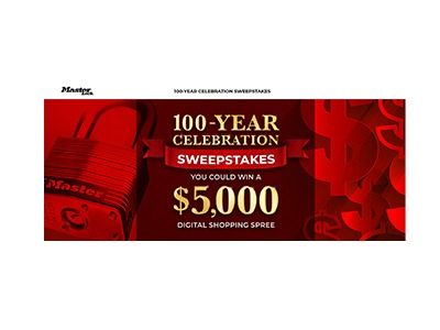 Master Lock 100 Year Celebration Sweepstakes