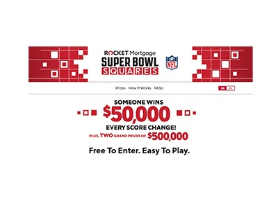 Rocket Mortgage 2021 Super Bowl Squares Sweepstakes