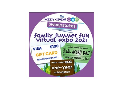 Happy Camper Live Family Summer Fun Virtual Expo Sweepstakes