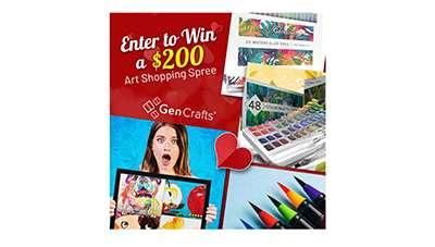 Win a Gen Crafts Art Shopping Spree