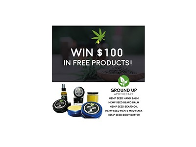 Win a Ground up Apothecary Men's Skin Care Gift Package