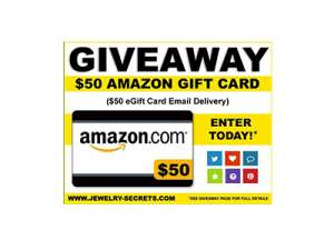 Jewelry Secrets amazon gift card giveaway