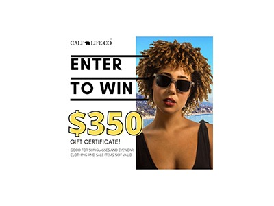 Cali Life Co $350 Shopping Spree Giveaway