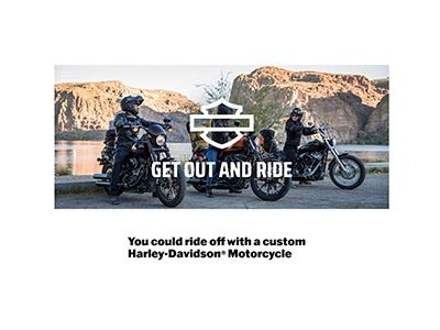 Harley-Davidson Get Out and Ride Sweepstakes