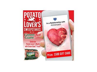 Green Giant Fresh Potato Lover's Sweepstakes