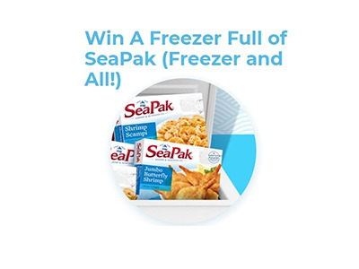 Freezer Full of SeaPak Sweepstakes