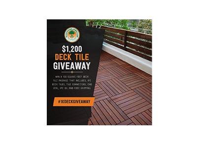 Advantage Lumber Deck Tile Giveaway