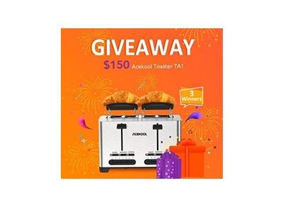 Acekool Toaster TA1 Giveaway