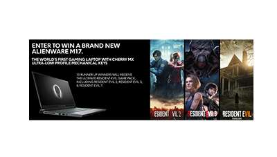 Alienware m17 Laptop + Resident Evil Sweepstakes