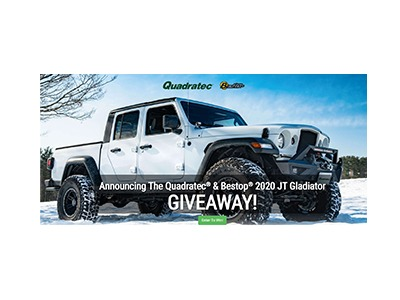 Quadratec Bestop 2020 Jeep Gladiator Giveaway