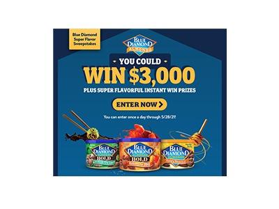 Blue Diamond Super Flavor Instant Win Game