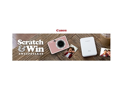 Canon Scratch & Win Sweepstakes