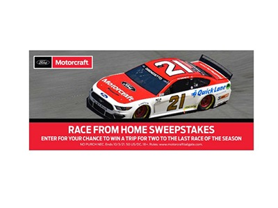 Motorcraft Race From Home Sweepstakes