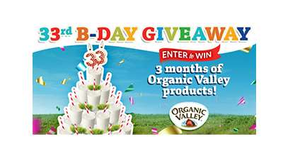 Organic Valley 33rd Birthday Giveaway