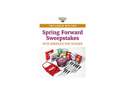Organic Spring Forward Sweepstakes