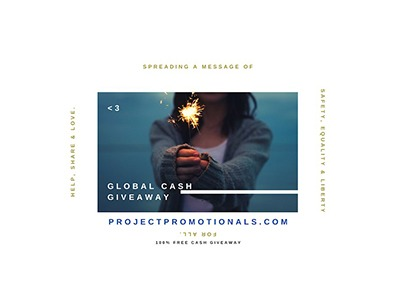 Project Promotionals Global Cash Giveaway