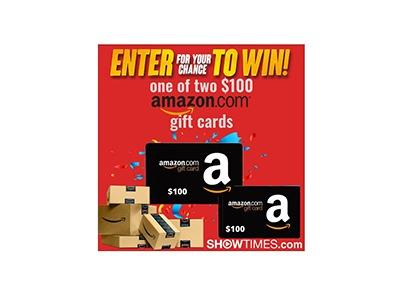 Showtimes Amazon Gift Card Sweepstakes