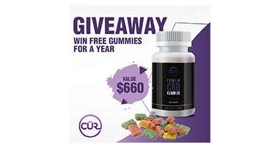 Win a 1-Year Supply Of CÜR CBD Gummies