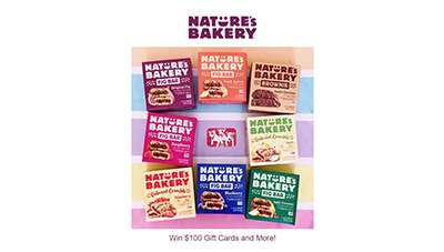 Natures Bakery 100K Giveaway