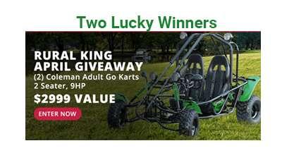 Coleman Adult 2 Seater Go Kart Giveaway