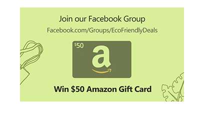 Eco-Friendly Deals Amazon Gift Card Giveaway