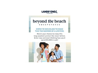 Lands' End Beyond the Beach Sweepstakes