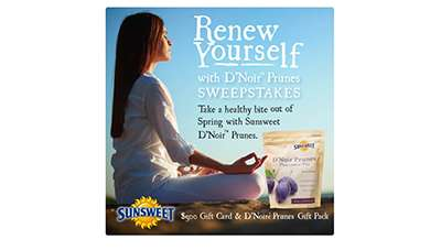 Renew Yourself with D'Noir Prunes Sweepstakes