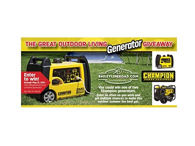The Great Outdoor Living Generator Giveaway