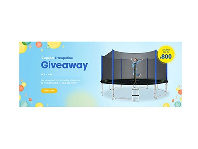 Zupapa Trampoline Giveaway